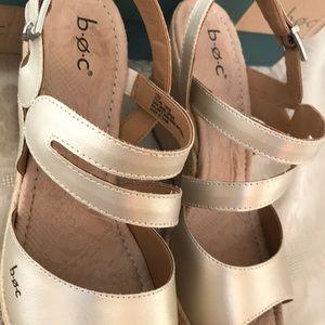 boc Shoes - B.O.C Teal Espadrille Wedge Sandal